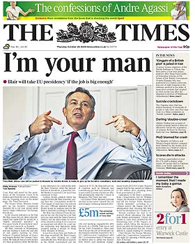 Blair - The Times 29 Oct 2009