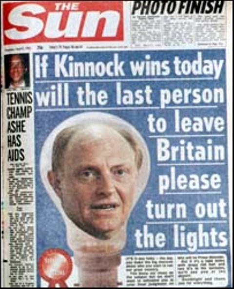 The Sun - Election Day 1992
