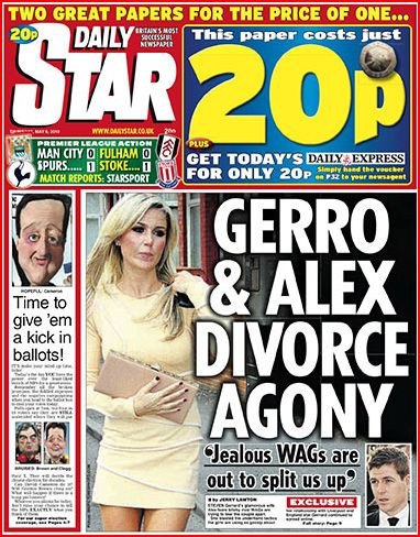 Daily Star UK Election Day 2010 Newspaper Front Pages Daily Star