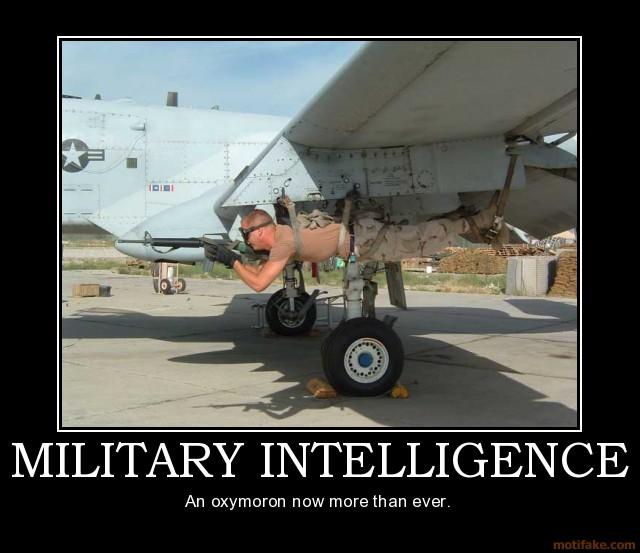 Military intelligence motivational poster