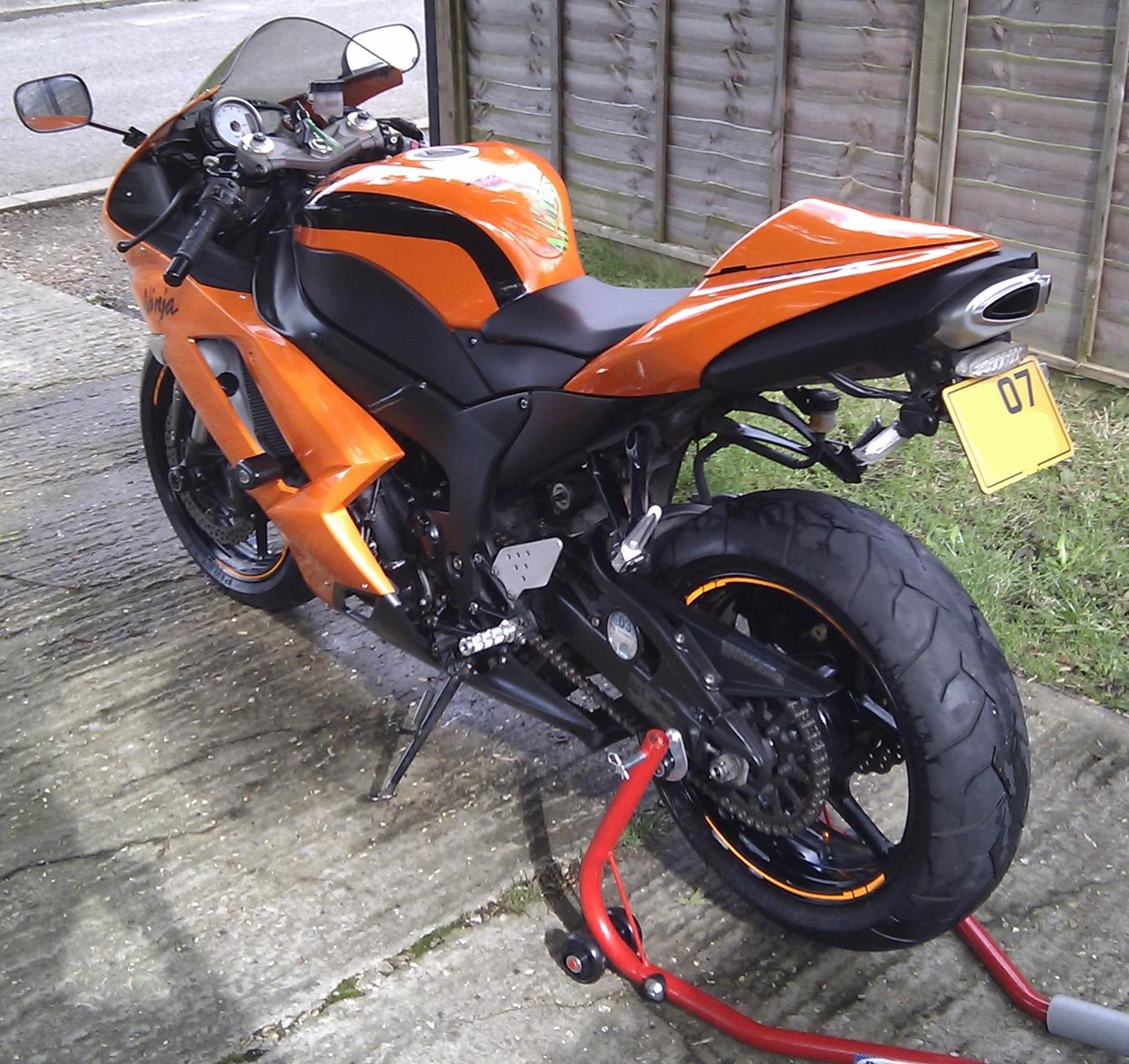Kawasaki Ninja Zxr Orange
