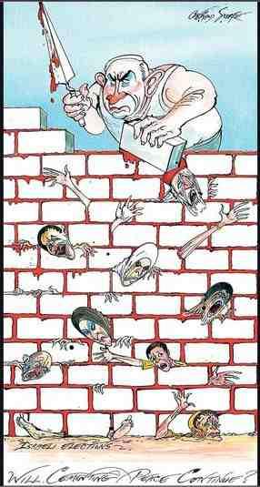 Gerald Scarfe Cartoon Israel sundaytimes 27 01 13