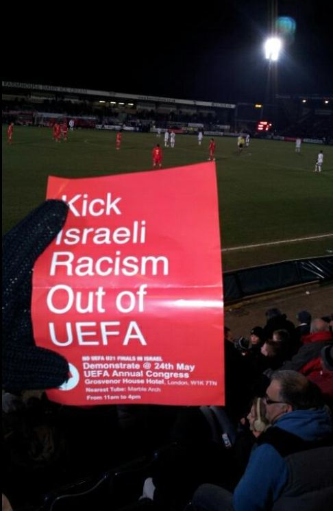 kick israeli racism out of uefa