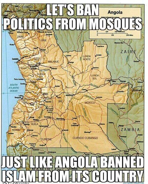 angola bans islam