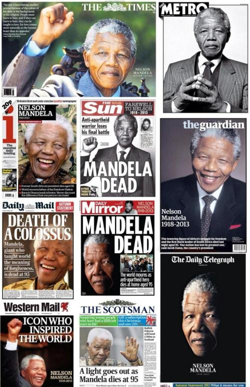 Nelson Mandela Death Press Reaction